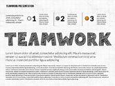 Shapes: Teamwork Presentation in Chalkboard Style #02748