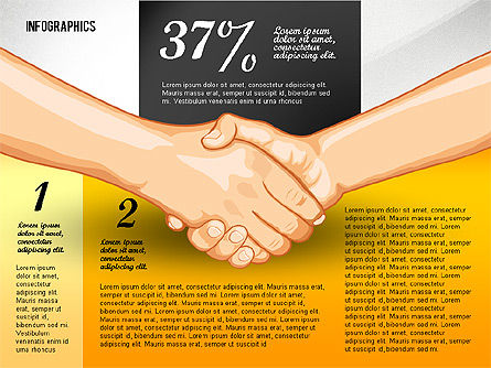 Negotiation Infographics Concept, Slide 3, 02750, Infographics — PoweredTemplate.com