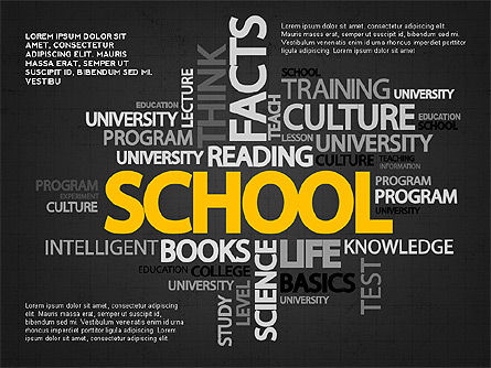 Education Word Cloud Modern Presentation Template, Slide 9, 02752, Education Charts and Diagrams — PoweredTemplate.com