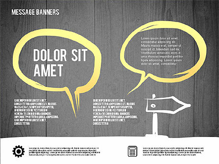 Speech Bubbles in Hand Drawn Style, Slide 9, 02753, Shapes — PoweredTemplate.com