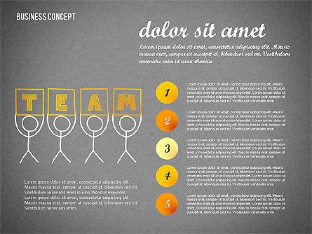Team Presentation Concept, Slide 16, 02755, Presentation Templates — PoweredTemplate.com