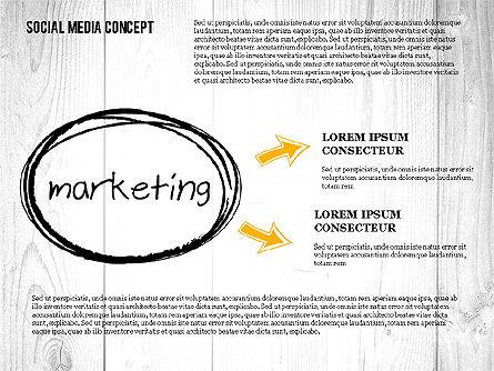Social Media Strategy Presentation Concept, Slide 2, 02758, Presentation Templates — PoweredTemplate.com