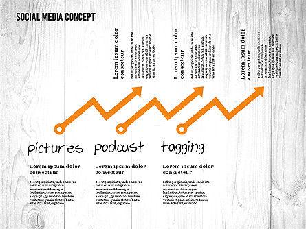 Social Media Strategy Presentation Concept, Slide 3, 02758, Presentation Templates — PoweredTemplate.com