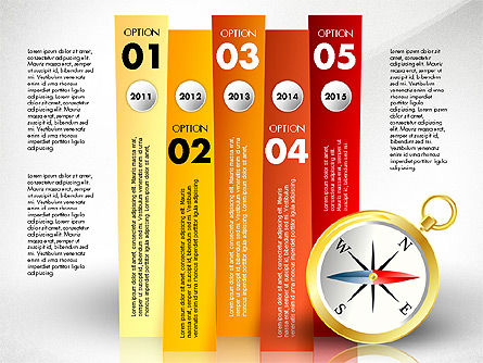 Options with Compass, Slide 6, 02759, Stage Diagrams — PoweredTemplate.com