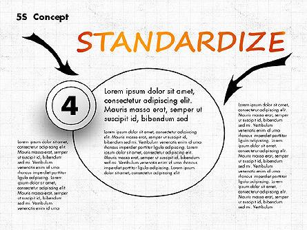 5S Diagram Concept, Slide 5, 02760, Business Models — PoweredTemplate.com
