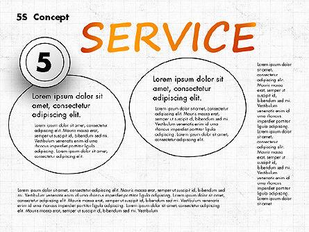 5S Diagram Concept, Slide 6, 02760, Business Models — PoweredTemplate.com