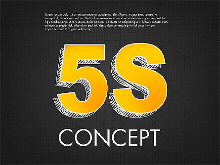 5S Diagram Concept, Slide 9, 02760, Business Models — PoweredTemplate.com