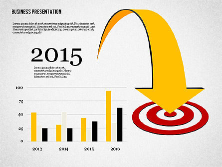 Creative Business Presentation with Data Driven Charts, Slide 2, 02762, Presentation Templates — PoweredTemplate.com