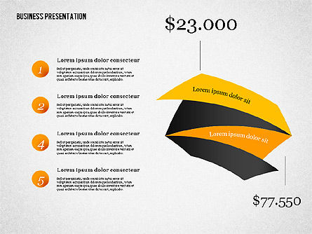 Creative Business Presentation with Data Driven Charts, Slide 3, 02762, Presentation Templates — PoweredTemplate.com
