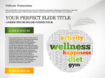 Presentation Templates: Wellness Word Cloud Presentation Template #02765