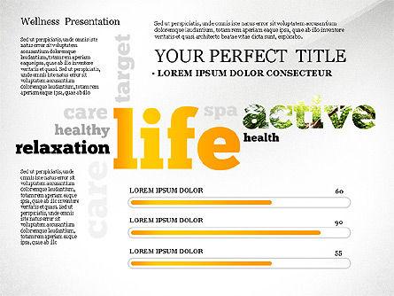 Wellness Word Cloud Presentation Template, Slide 3, 02765, Presentation Templates — PoweredTemplate.com