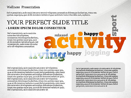 Wellness Word Cloud Presentation Template, Slide 4, 02765, Presentation Templates — PoweredTemplate.com