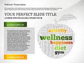 Presentation Templates: Wellness word cloud presentatiesjabloon #02765