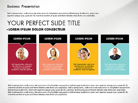Business Presentation in Modern Colors, 02769, Presentation Templates — PoweredTemplate.com