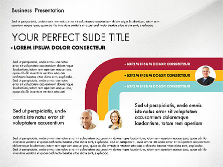 Business Presentation in Modern Colors, Slide 3, 02769, Presentation Templates — PoweredTemplate.com
