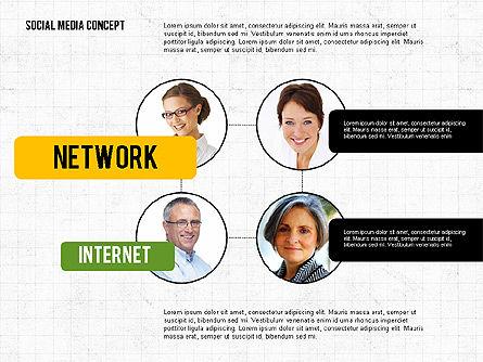 Social Networking Presentation Concept, Slide 2, 02770, Presentation Templates — PoweredTemplate.com