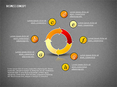 Business Concept Shapes Collection, Slide 10, 02771, Shapes — PoweredTemplate.com