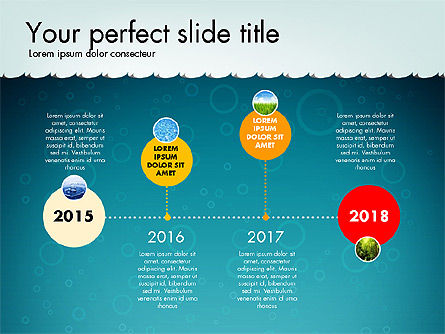 Timeline with Navy Theme Toolbox, Slide 3, 02780, Timelines & Calendars — PoweredTemplate.com