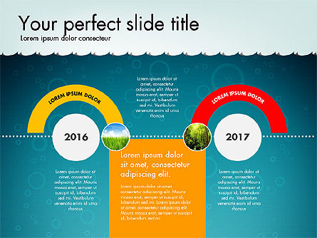 Timeline with Navy Theme Toolbox, Slide 4, 02780, Timelines & Calendars — PoweredTemplate.com