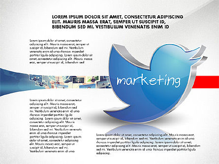 Twitter Marketing Content Options, Slide 2, 02783, Stage Diagrams — PoweredTemplate.com