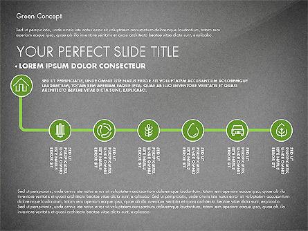 Green Presentation Concept, Slide 10, 02784, Presentation Templates — PoweredTemplate.com