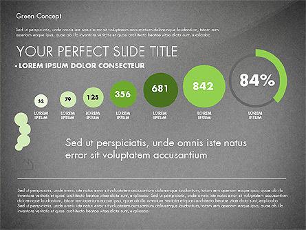 Green Presentation Concept, Slide 12, 02784, Presentation Templates — PoweredTemplate.com