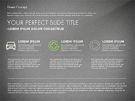 Green Presentation Concept, Slide 14, 02784, Presentation Templates — PoweredTemplate.com