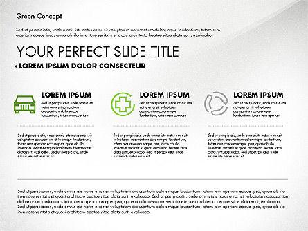 Green Presentation Concept, Slide 6, 02784, Presentation Templates — PoweredTemplate.com