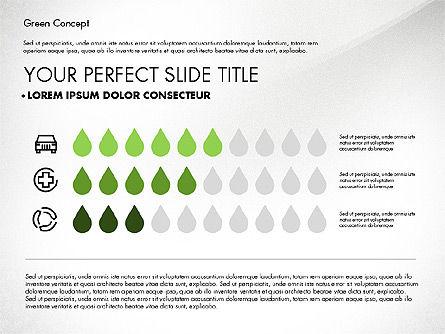 Green Presentation Concept, Slide 8, 02784, Presentation Templates — PoweredTemplate.com