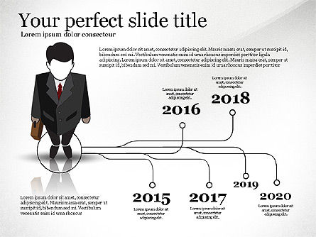 Pitch Deck Presentation with Businessman Silhouette, 02786, Presentation Templates — PoweredTemplate.com
