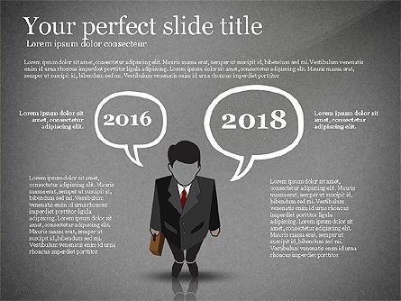 Pitch Deck Presentation with Businessman Silhouette, Slide 10, 02786, Presentation Templates — PoweredTemplate.com