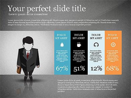 Pitch Deck Presentation with Businessman Silhouette, Slide 11, 02786, Presentation Templates — PoweredTemplate.com