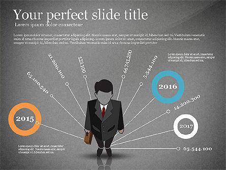Pitch Deck Presentation with Businessman Silhouette, Slide 12, 02786, Presentation Templates — PoweredTemplate.com