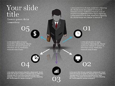 Pitch Deck Presentation with Businessman Silhouette, Slide 13, 02786, Presentation Templates — PoweredTemplate.com