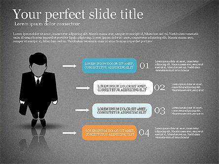 Pitch Deck Presentation with Businessman Silhouette, Slide 14, 02786, Presentation Templates — PoweredTemplate.com