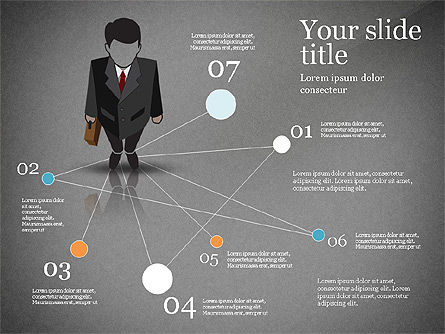 Pitch Deck Presentation with Businessman Silhouette, Slide 15, 02786, Presentation Templates — PoweredTemplate.com