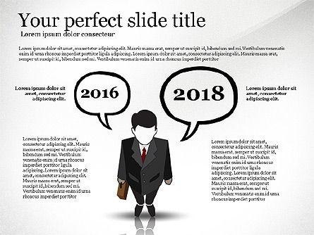 Pitch Deck Presentation with Businessman Silhouette, Slide 2, 02786, Presentation Templates — PoweredTemplate.com