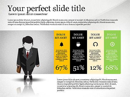 Pitch Deck Presentation with Businessman Silhouette, Slide 3, 02786, Presentation Templates — PoweredTemplate.com