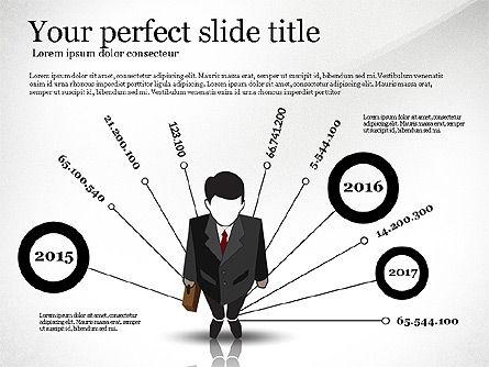 Pitch Deck Presentation with Businessman Silhouette, Slide 4, 02786, Presentation Templates — PoweredTemplate.com