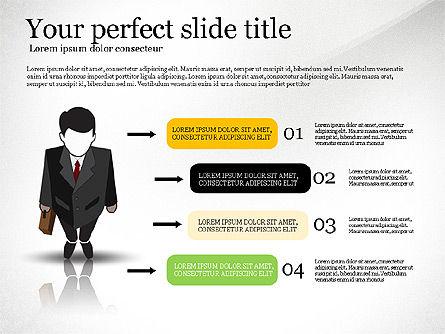 Pitch Deck Presentation with Businessman Silhouette, Slide 6, 02786, Presentation Templates — PoweredTemplate.com