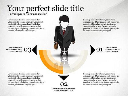 Pitch Deck Presentation with Businessman Silhouette, Slide 8, 02786, Presentation Templates — PoweredTemplate.com