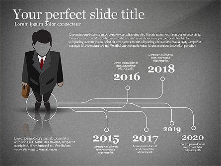 Pitch Deck Presentation with Businessman Silhouette, Slide 9, 02786, Presentation Templates — PoweredTemplate.com