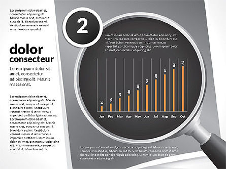 Data Driven Charts Collection with Magnifier, Slide 10, 02787, Data Driven Diagrams and Charts — PoweredTemplate.com