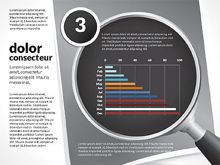 Data Driven Charts Collection with Magnifier, Slide 11, 02787, Data Driven Diagrams and Charts — PoweredTemplate.com