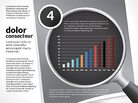 Data Driven Charts Collection with Magnifier, Slide 12, 02787, Data Driven Diagrams and Charts — PoweredTemplate.com