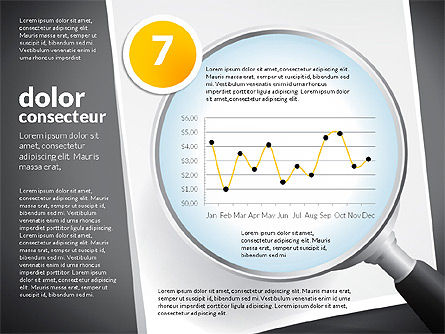Data Driven Charts Collection with Magnifier, Slide 7, 02787, Data Driven Diagrams and Charts — PoweredTemplate.com