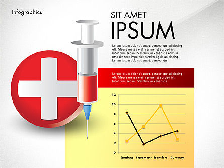 Medical Diagrams and Charts: Medical Infographic with Data Driven Charts #02792