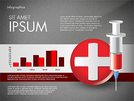 Medical Infographic with Data Driven Charts, Slide 13, 02792, Medical Diagrams and Charts — PoweredTemplate.com