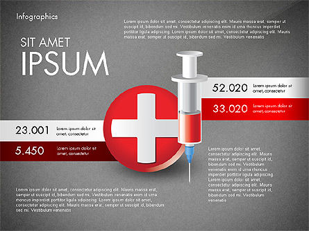 Medical Infographic with Data Driven Charts, Slide 14, 02792, Medical Diagrams and Charts — PoweredTemplate.com