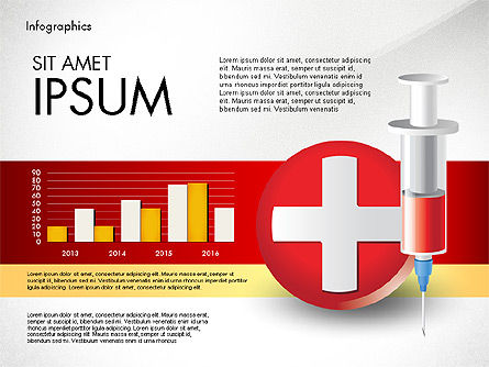 Medical Infographic with Data Driven Charts, Slide 5, 02792, Medical Diagrams and Charts — PoweredTemplate.com